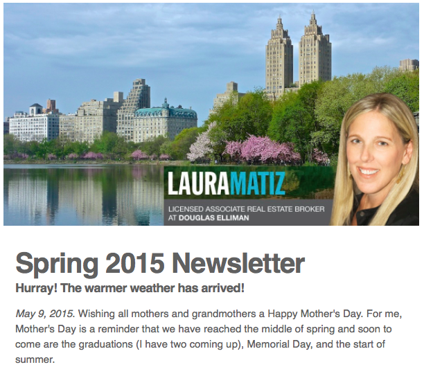 Spring 2015 Newsletter Screenshot